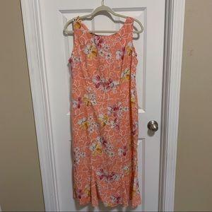 R & K Originals peach floral maxi dress